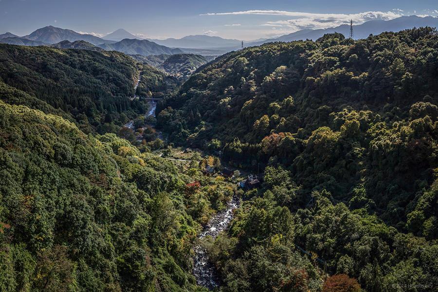 07.高原大橋からの八ヶ岳と川俣川渓谷 10
