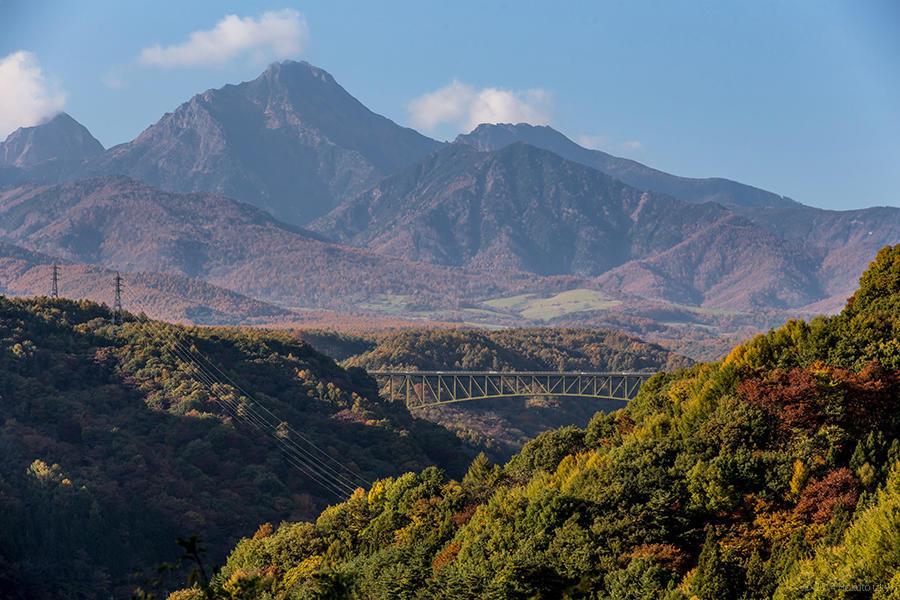 07.高原大橋からの八ヶ岳と川俣川渓谷 15