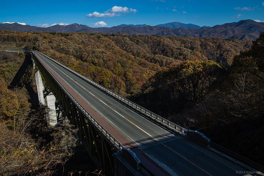 07.高原大橋からの八ヶ岳と川俣川渓谷 16