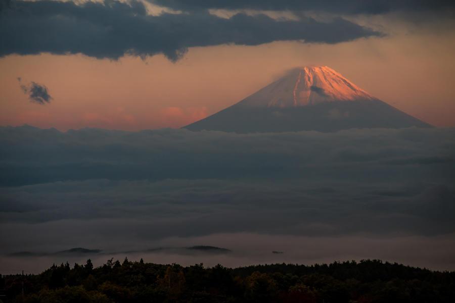 富士見坂から望む富士山