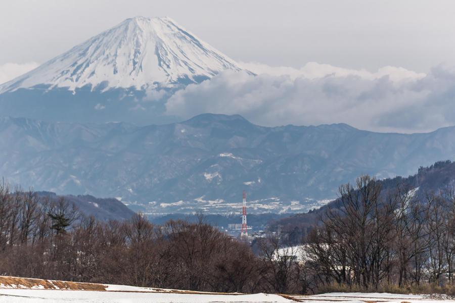 花水坂から望む富士山