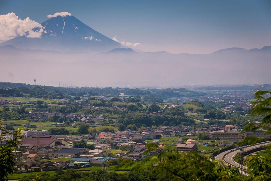 法徳寺から望む富士山