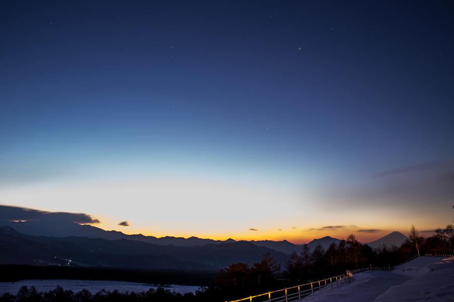 まきば公園から望む富士山