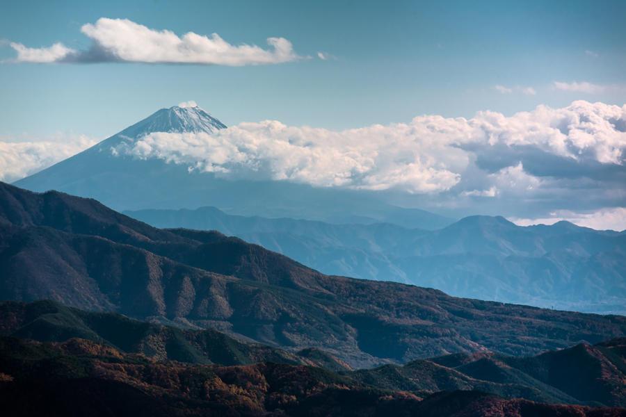 美し森から望む富士山